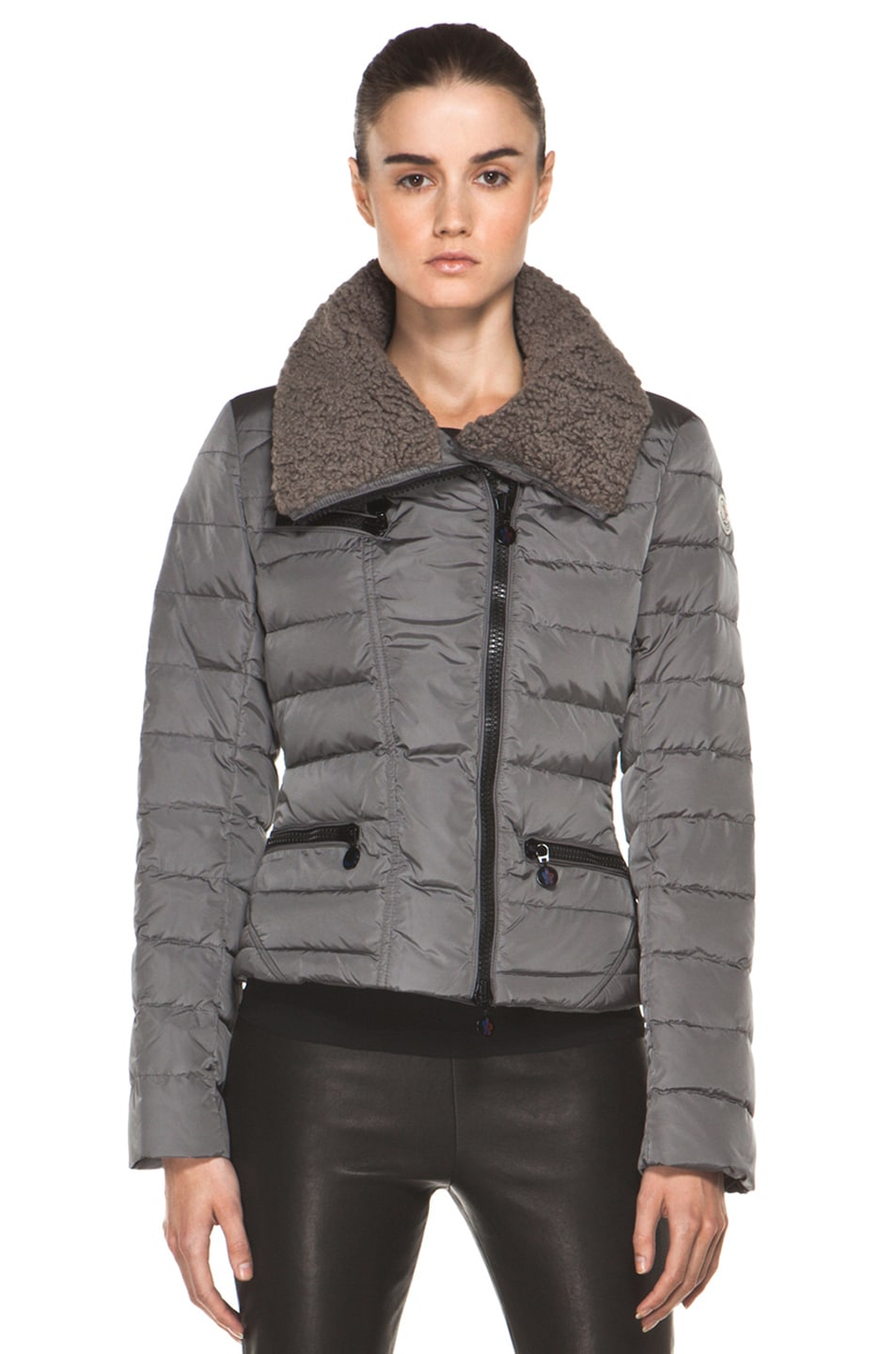 Image 2 of Moncler Frene Nylon Polyamide Coat in Grey