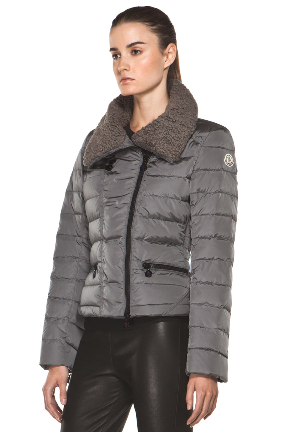 Image 3 of Moncler Frene Nylon Polyamide Coat in Grey