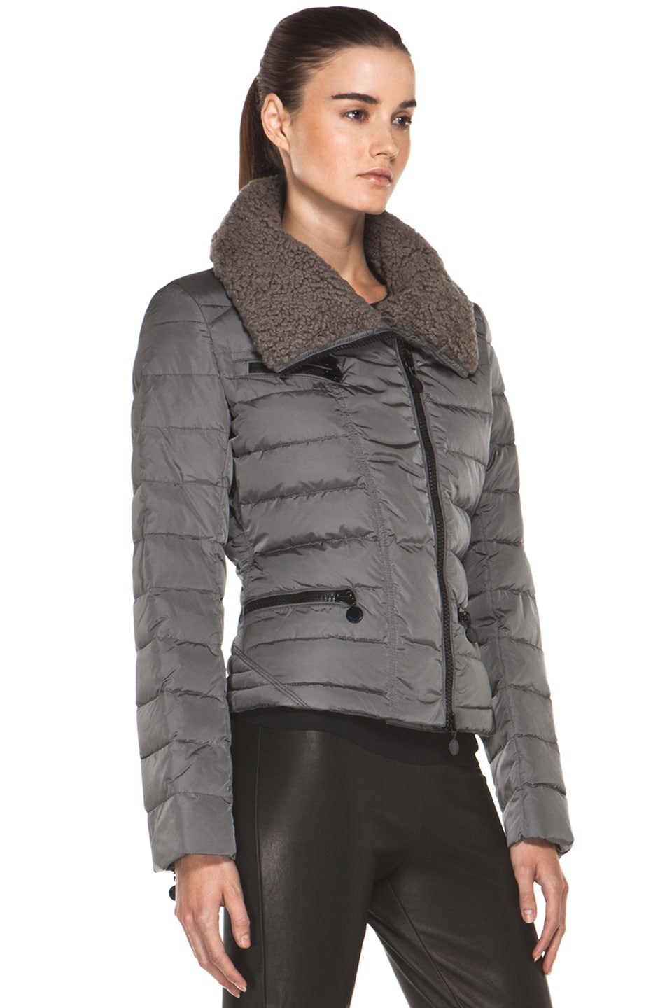 Image 4 of Moncler Frene Nylon Polyamide Coat in Grey