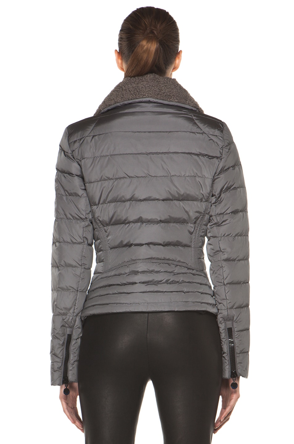 Image 5 of Moncler Frene Nylon Polyamide Coat in Grey
