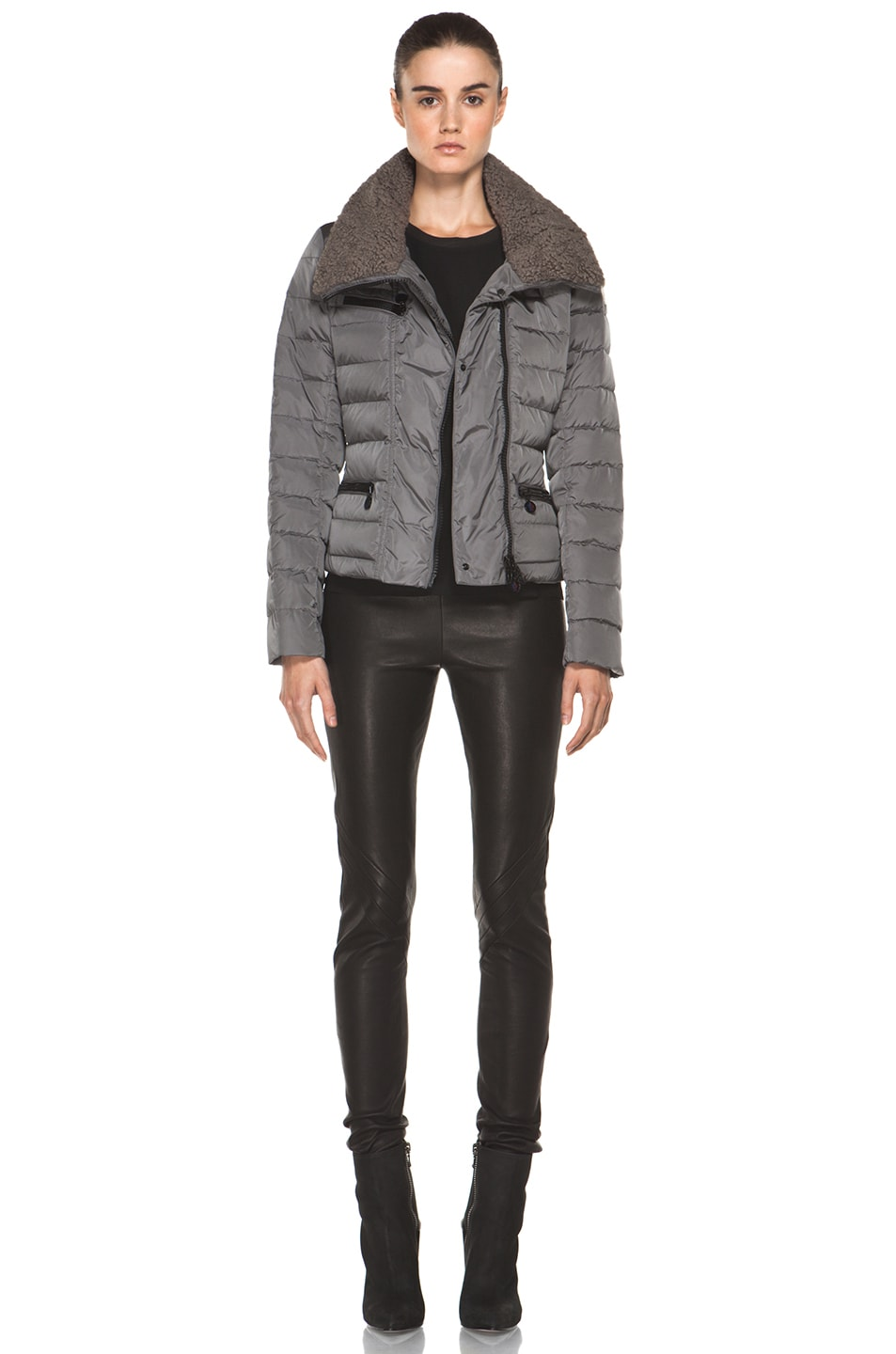 Image 6 of Moncler Frene Nylon Polyamide Coat in Grey