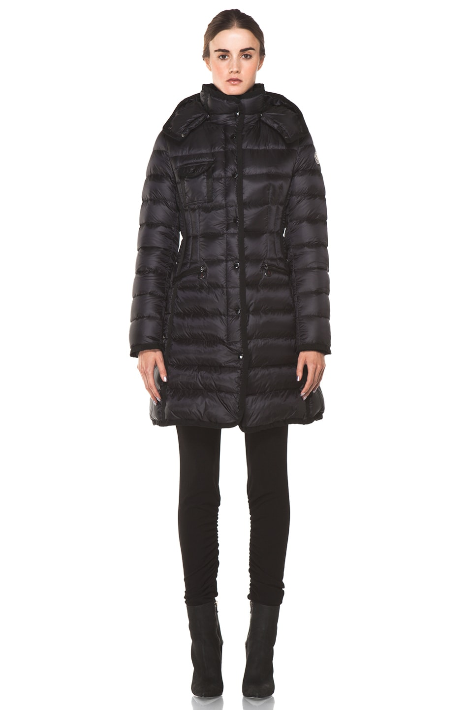 Image 1 of Moncler Hermine Coat in Black