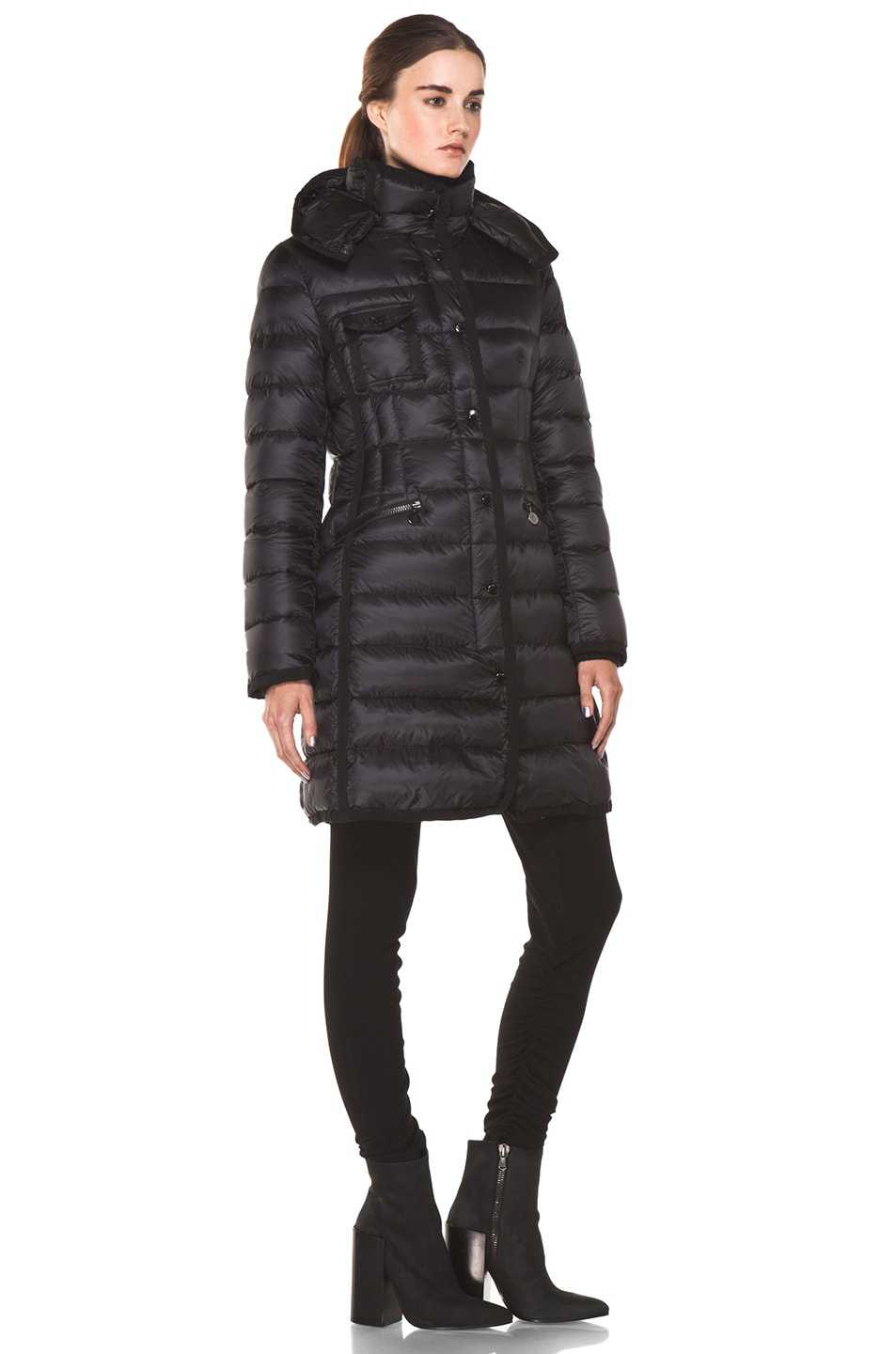 Image 3 of Moncler Hermine Coat in Black