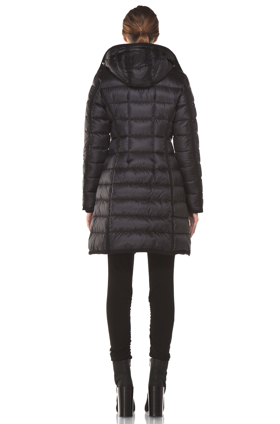 Image 4 of Moncler Hermine Coat in Black