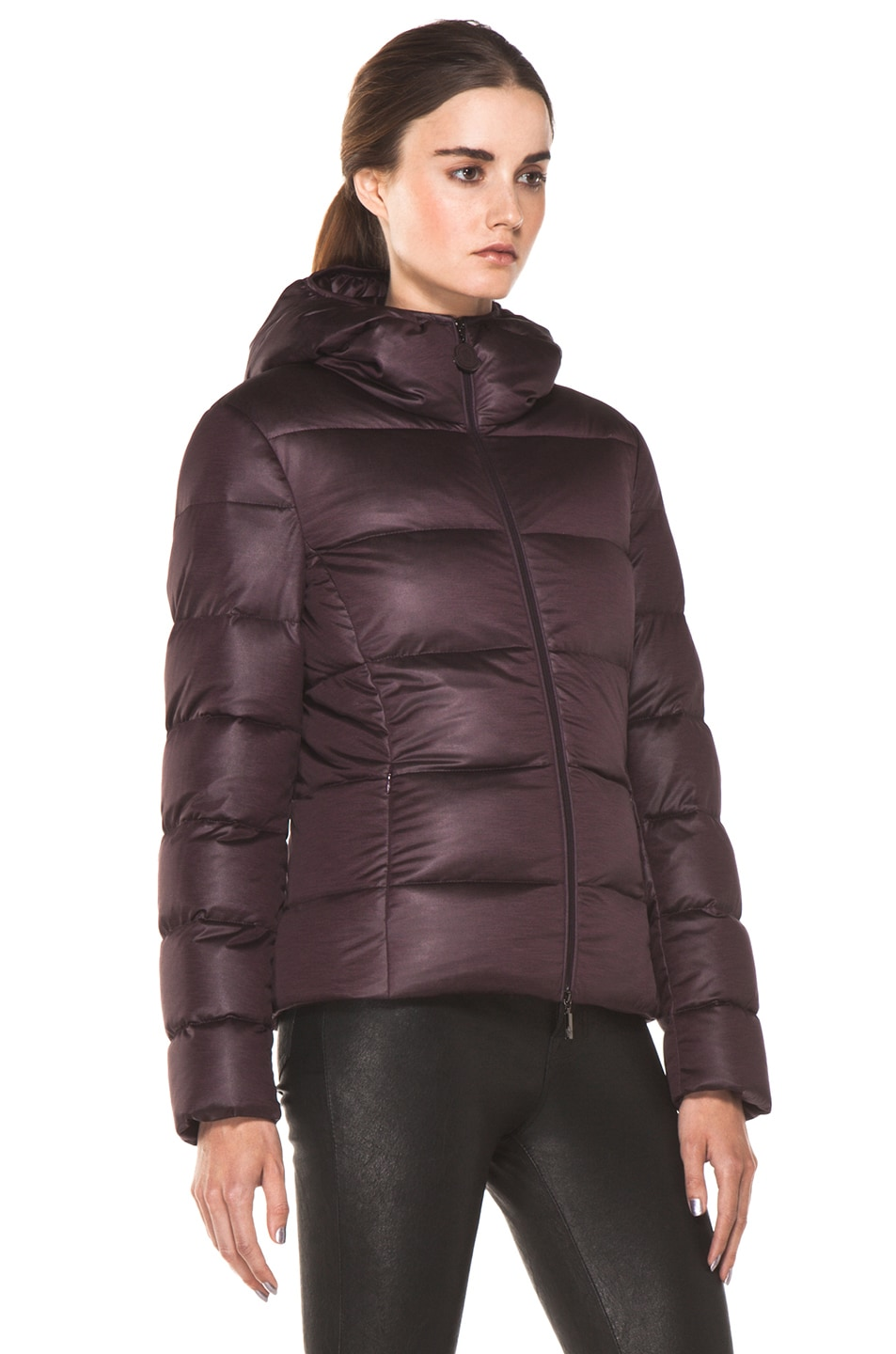 Image 4 of Moncler Jersey Poly Jacket in Burgundy