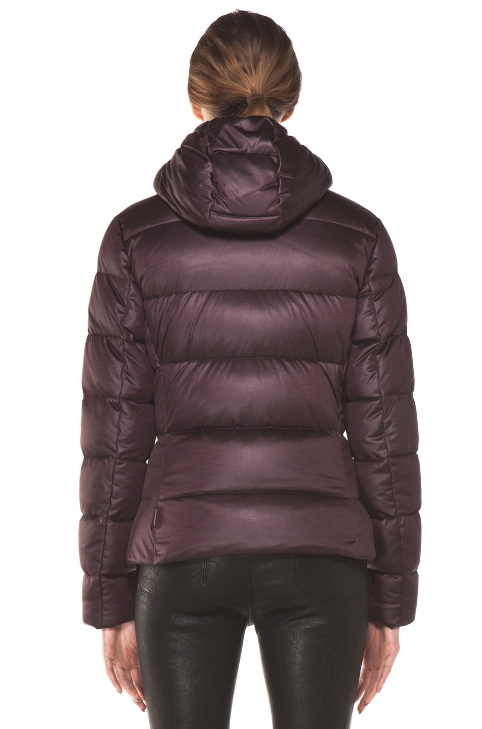 Image 5 of Moncler Jersey Poly Jacket in Burgundy