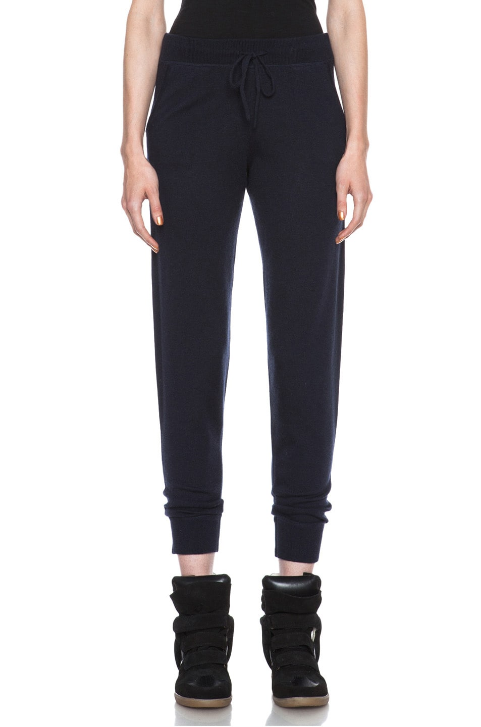 Image 1 of MONCLER Cashmere Sweatpant in Navy