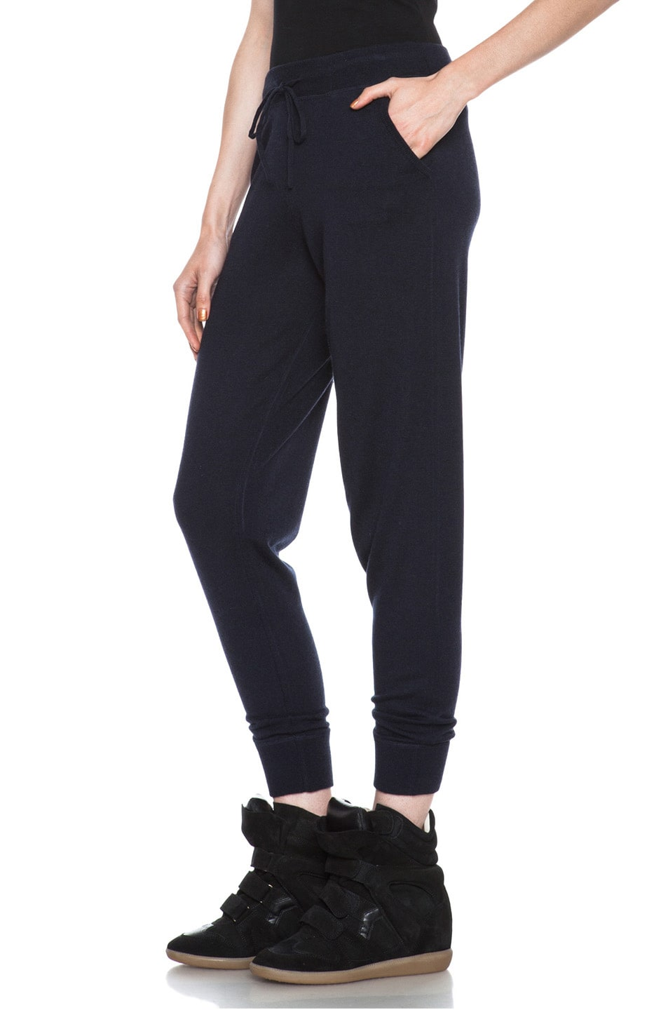 Image 2 of MONCLER Cashmere Sweatpant in Navy