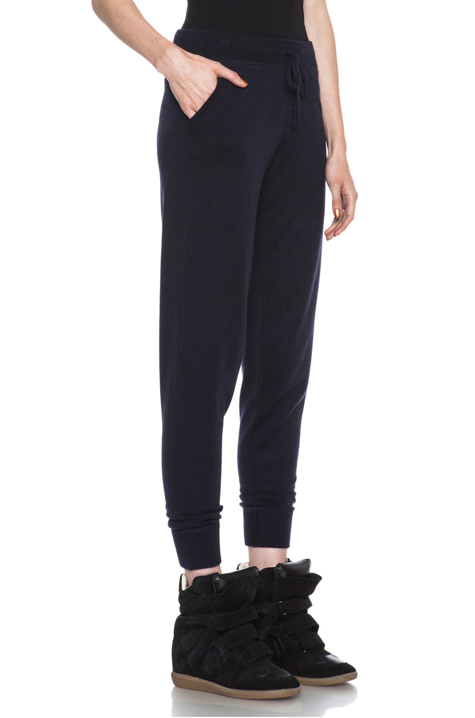 Image 3 of MONCLER Cashmere Sweatpant in Navy