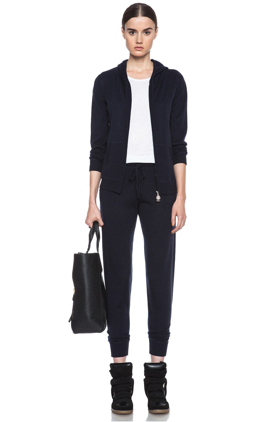 Image 5 of MONCLER Cashmere Sweatpant in Navy