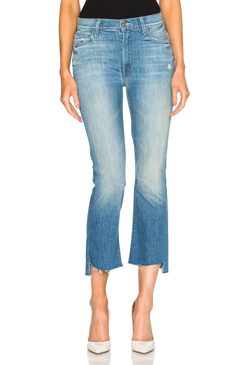 Insider Fray Hem Crop Jeans In When Sparks Fly, Blue