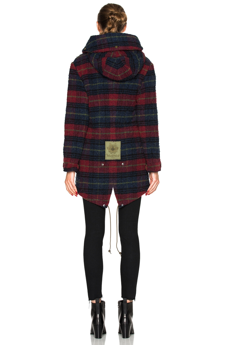 Image 5 of Mr & Mrs Italy Midi Parka Jacket in Plaid