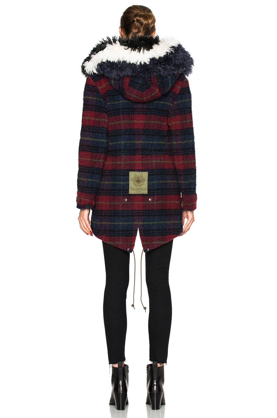 Image 6 of Mr & Mrs Italy Midi Parka Jacket in Plaid