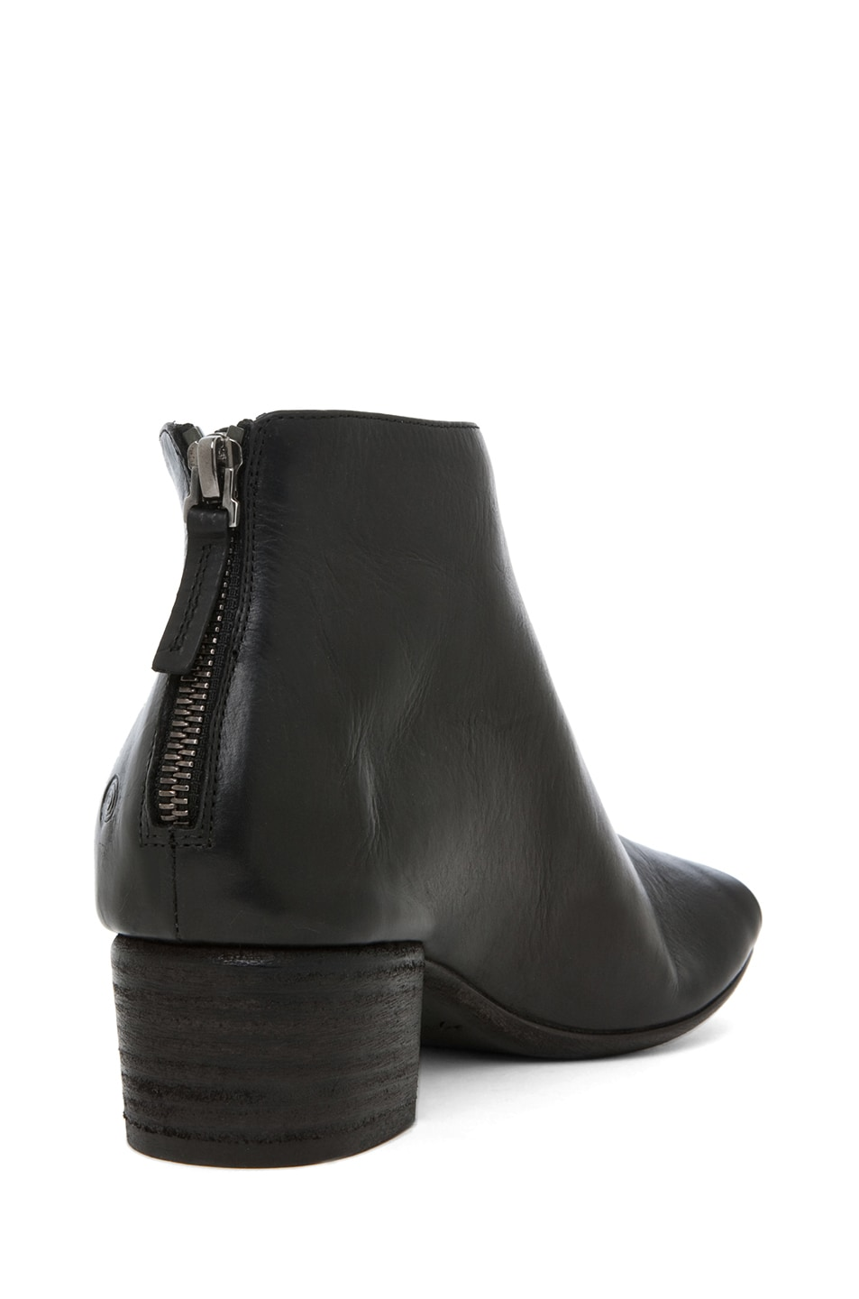 Image 3 of Marsell Bo Leather Booties in Black