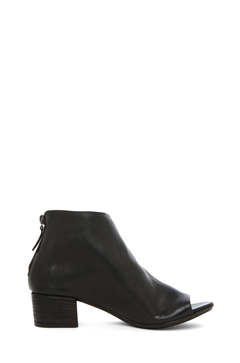 Image 5 of Marsell Bo Leather Booties in Black