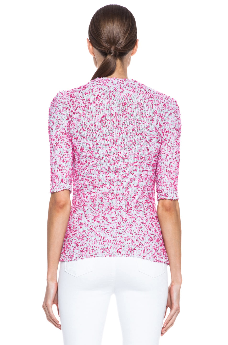 Image 4 of MSGM Pom Pom Knit Sweater in Pink