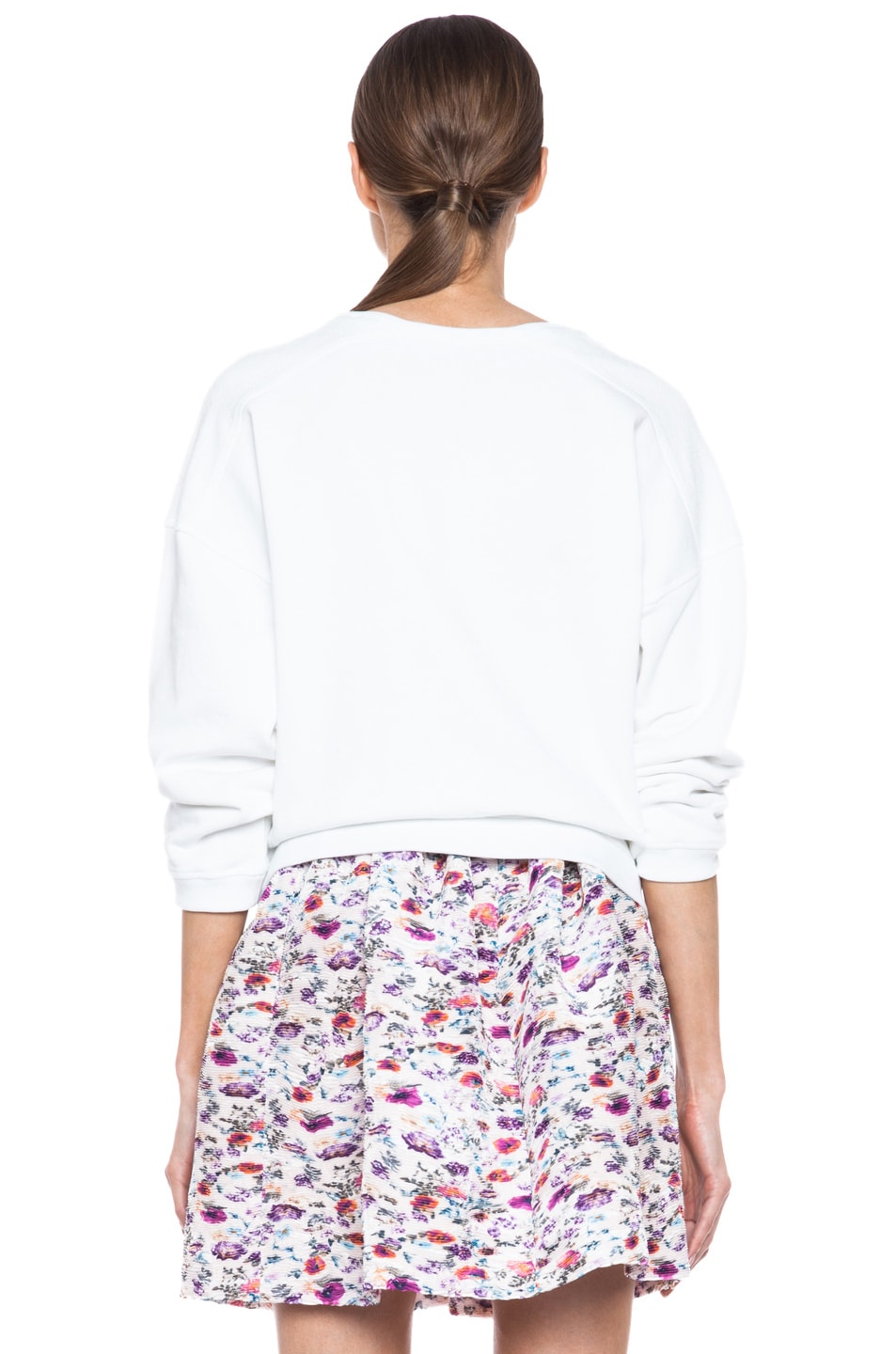 Image 4 of MSGM Love Cotton Sweatshirt in White