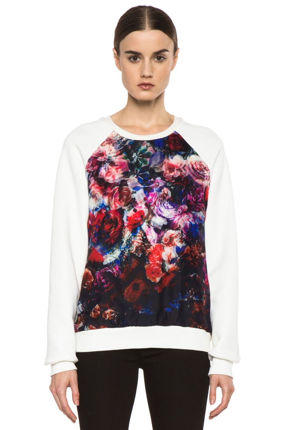 Image 1 of MSGM Organza Sweater in White & Floral