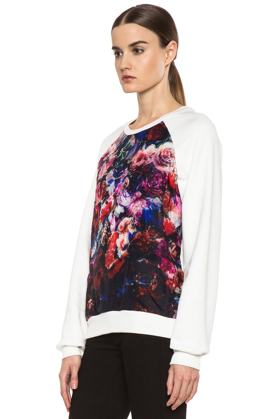 Image 2 of MSGM Organza Sweater in White & Floral