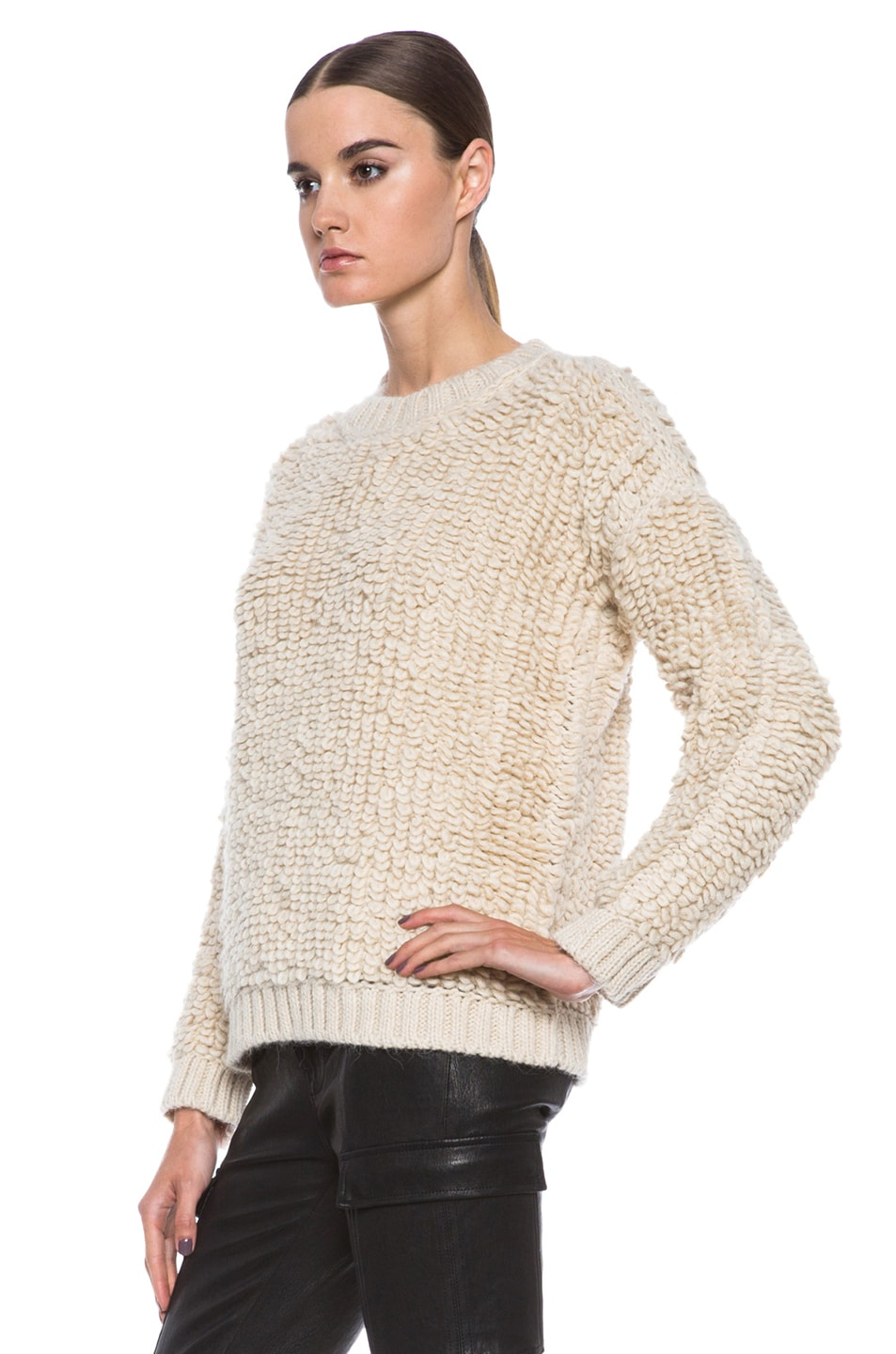 Image 2 of MSGM Knit Sweater in Cream