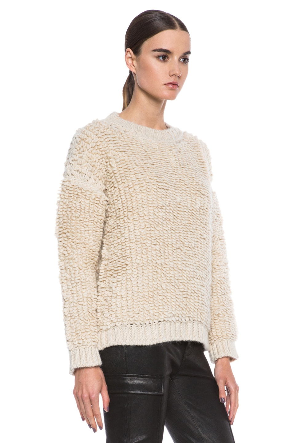 Image 3 of MSGM Knit Sweater in Cream