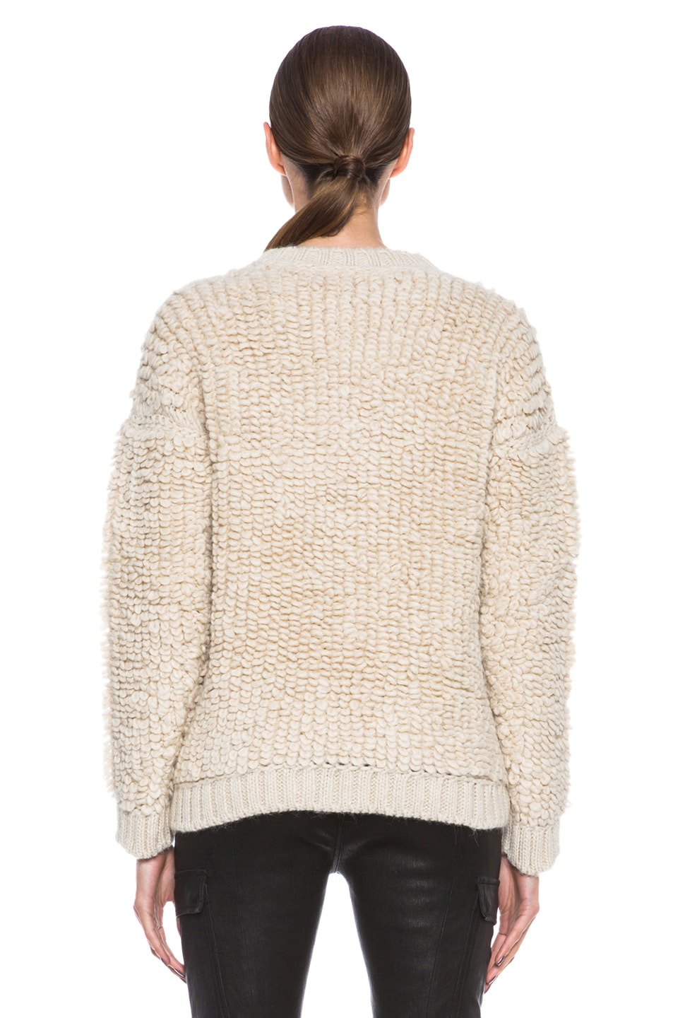 Image 4 of MSGM Knit Sweater in Cream
