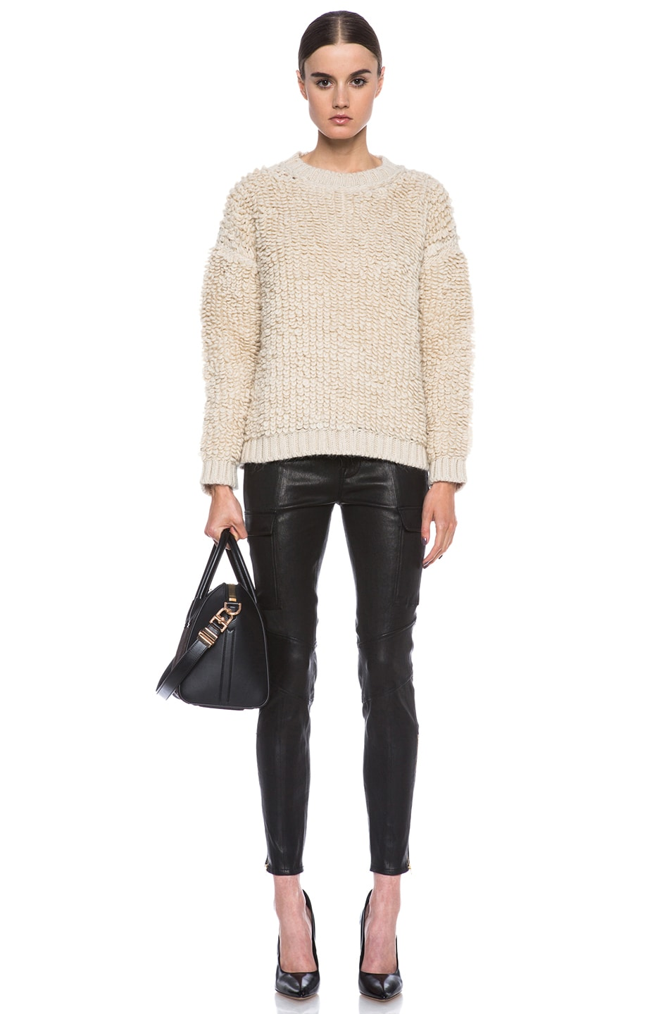 Image 5 of MSGM Knit Sweater in Cream