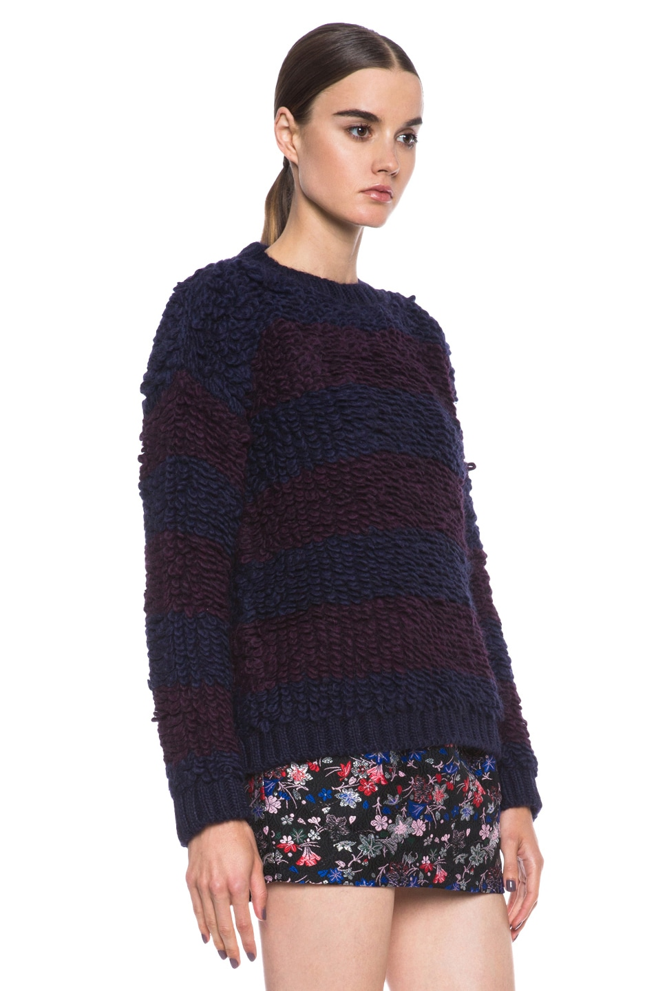 Image 3 of MSGM Knit Sweater in Blue Stripe