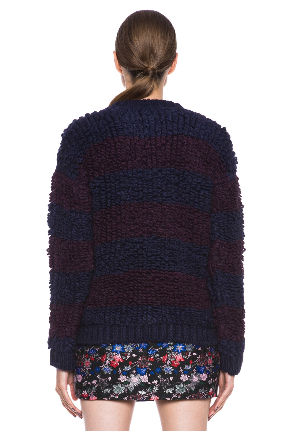 Image 4 of MSGM Knit Sweater in Blue Stripe