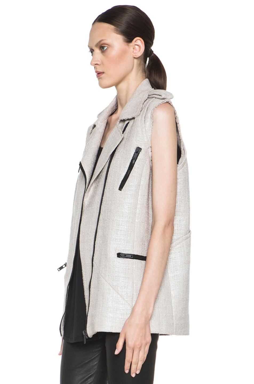 Image 3 of MSGM Tweed Vest in Beige