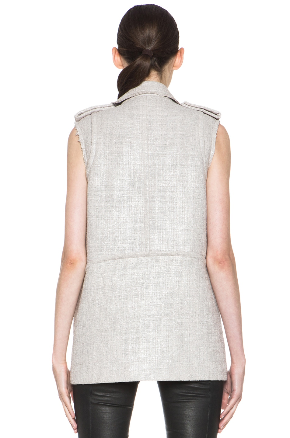 Image 5 of MSGM Tweed Vest in Beige