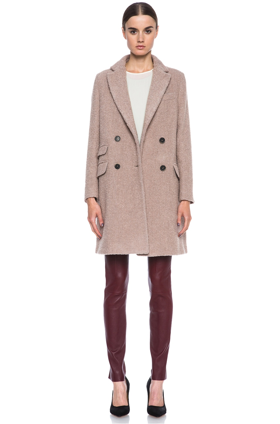 Image 1 of MSGM Wool Coat in Biege
