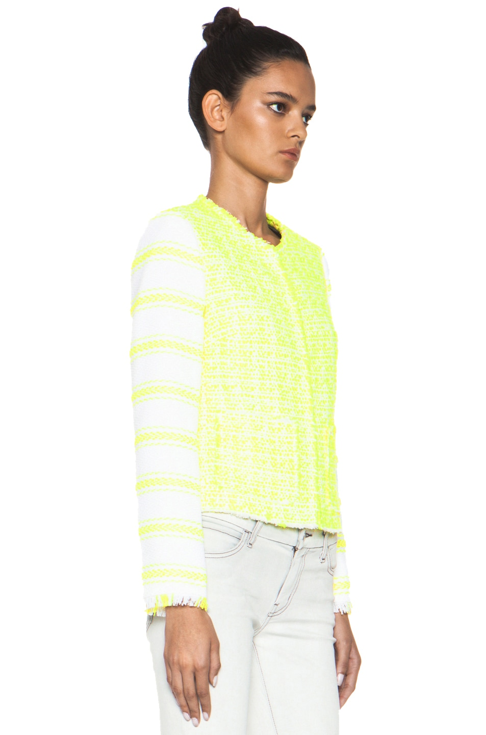 Image 4 of MSGM Striped Jacket in Yellow