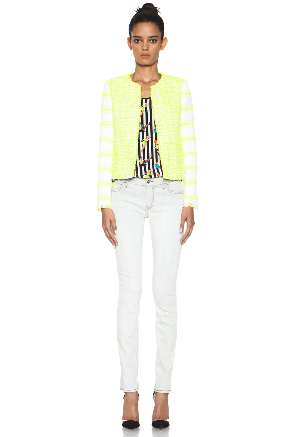 Image 6 of MSGM Striped Jacket in Yellow