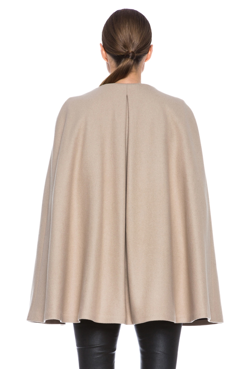 Image 5 of MSGM Wool Cape in Camel