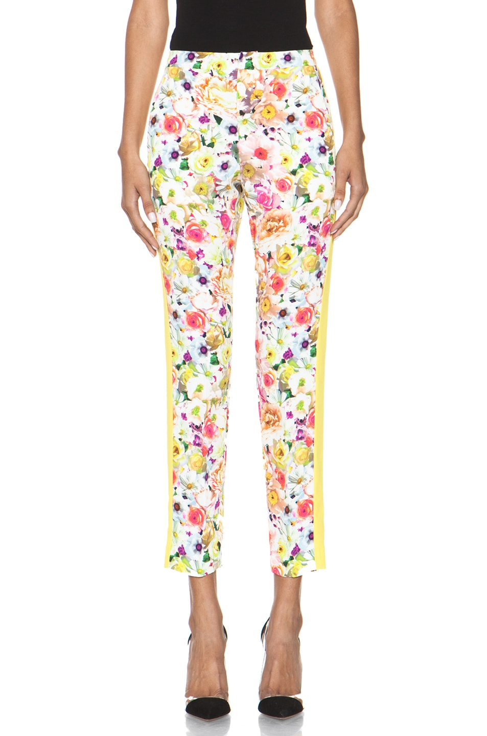 Image 1 of MSGM Floral Viscose Pant in White