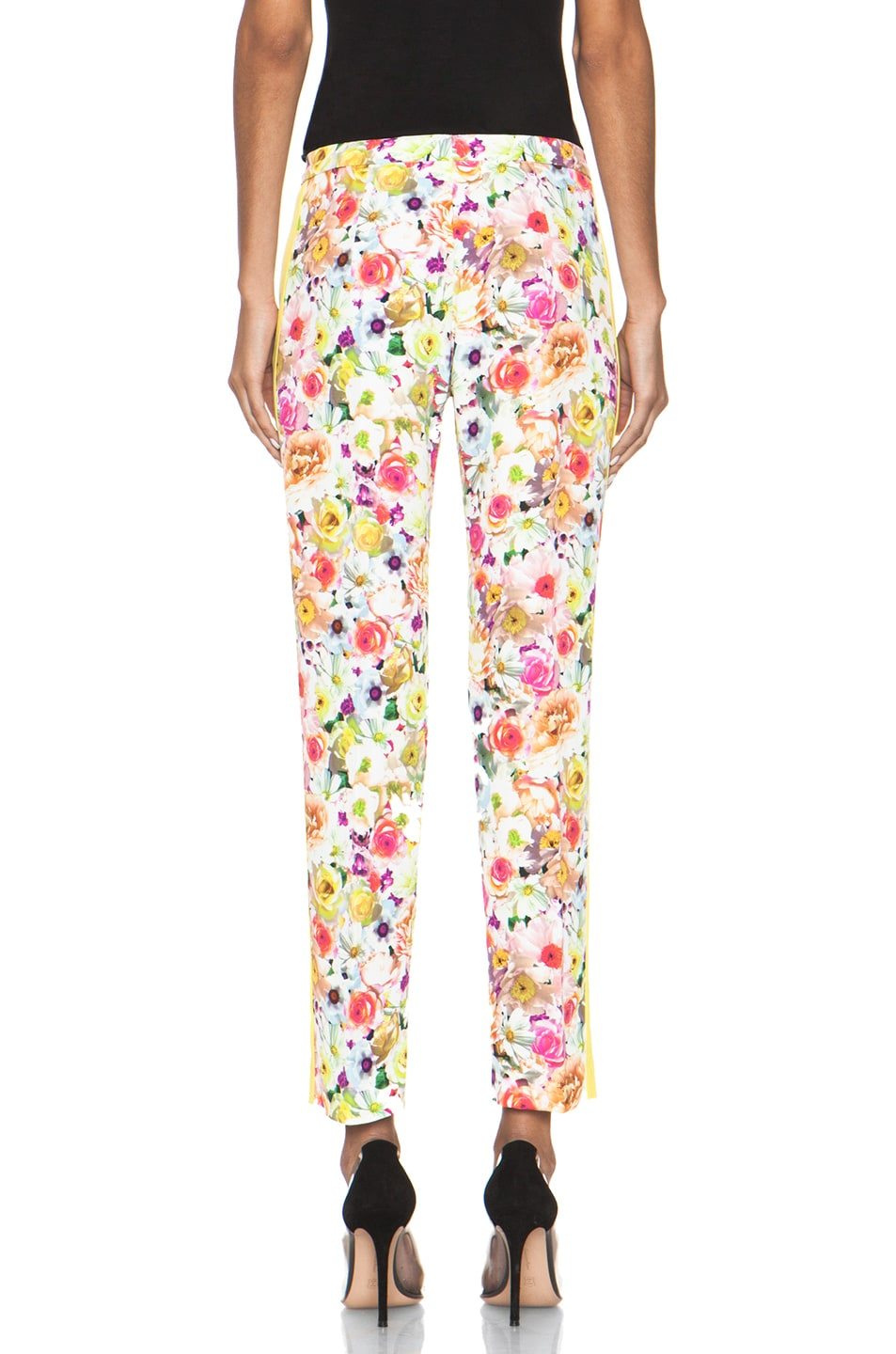 Image 4 of MSGM Floral Viscose Pant in White