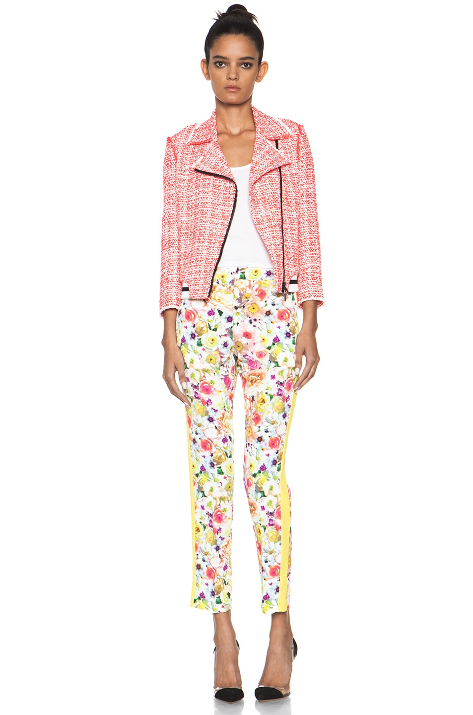 Image 5 of MSGM Floral Viscose Pant in White