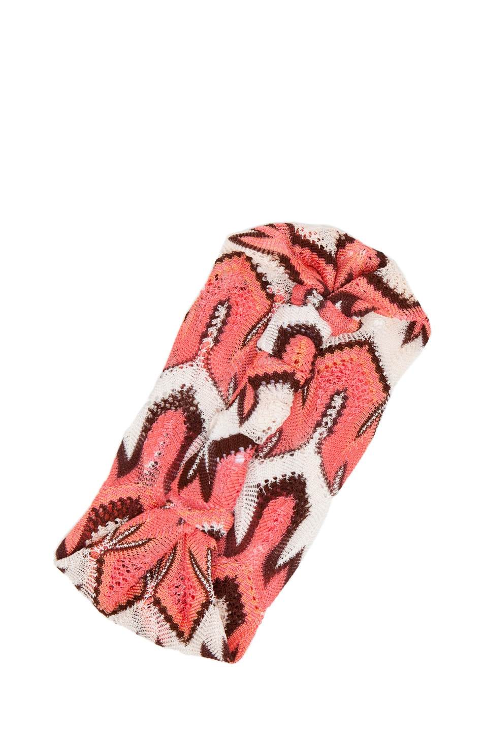 Image 3 of Missoni Fascia Head Band in Pink