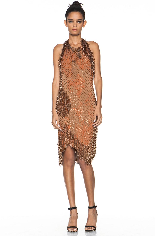 Image 1 of Missoni Beaded Dress in Orange