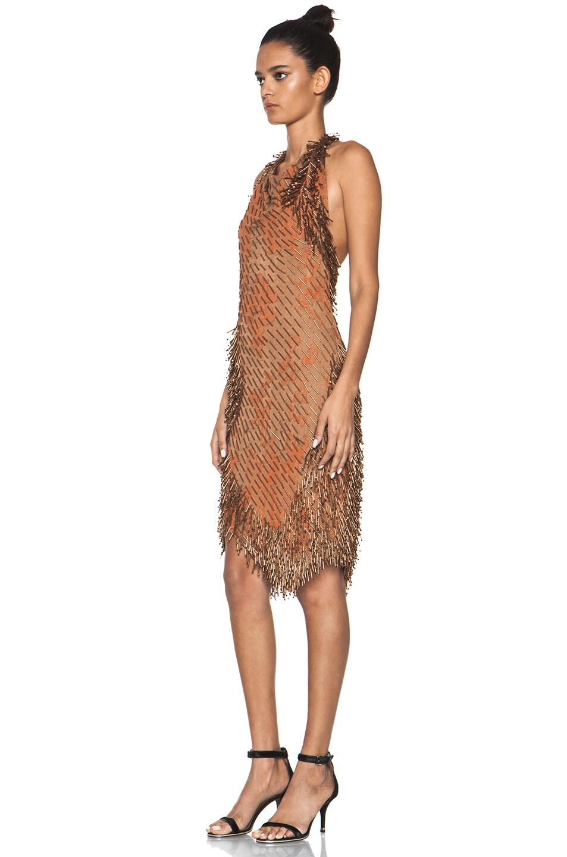Image 2 of Missoni Beaded Dress in Orange
