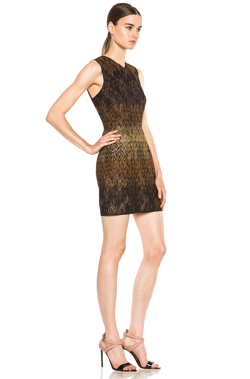 Image 3 of Missoni Knit Dress in Black & Brown