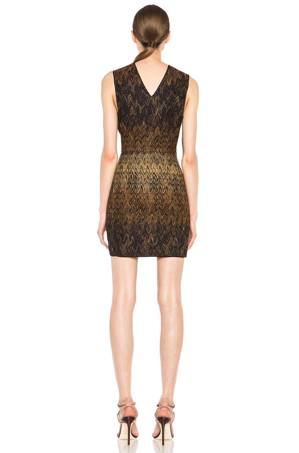 Image 4 of Missoni Knit Dress in Black & Brown