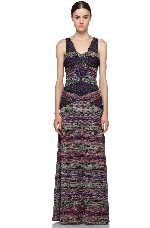 Image 1 of Missoni Long Metallic Evening Dress in Purple