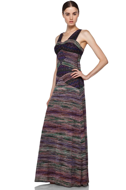 Image 2 of Missoni Long Metallic Evening Dress in Purple