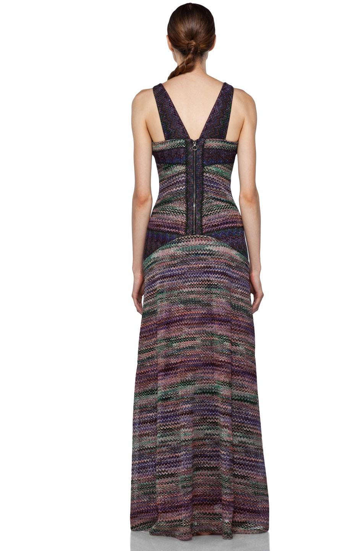 Image 4 of Missoni Long Metallic Evening Dress in Purple