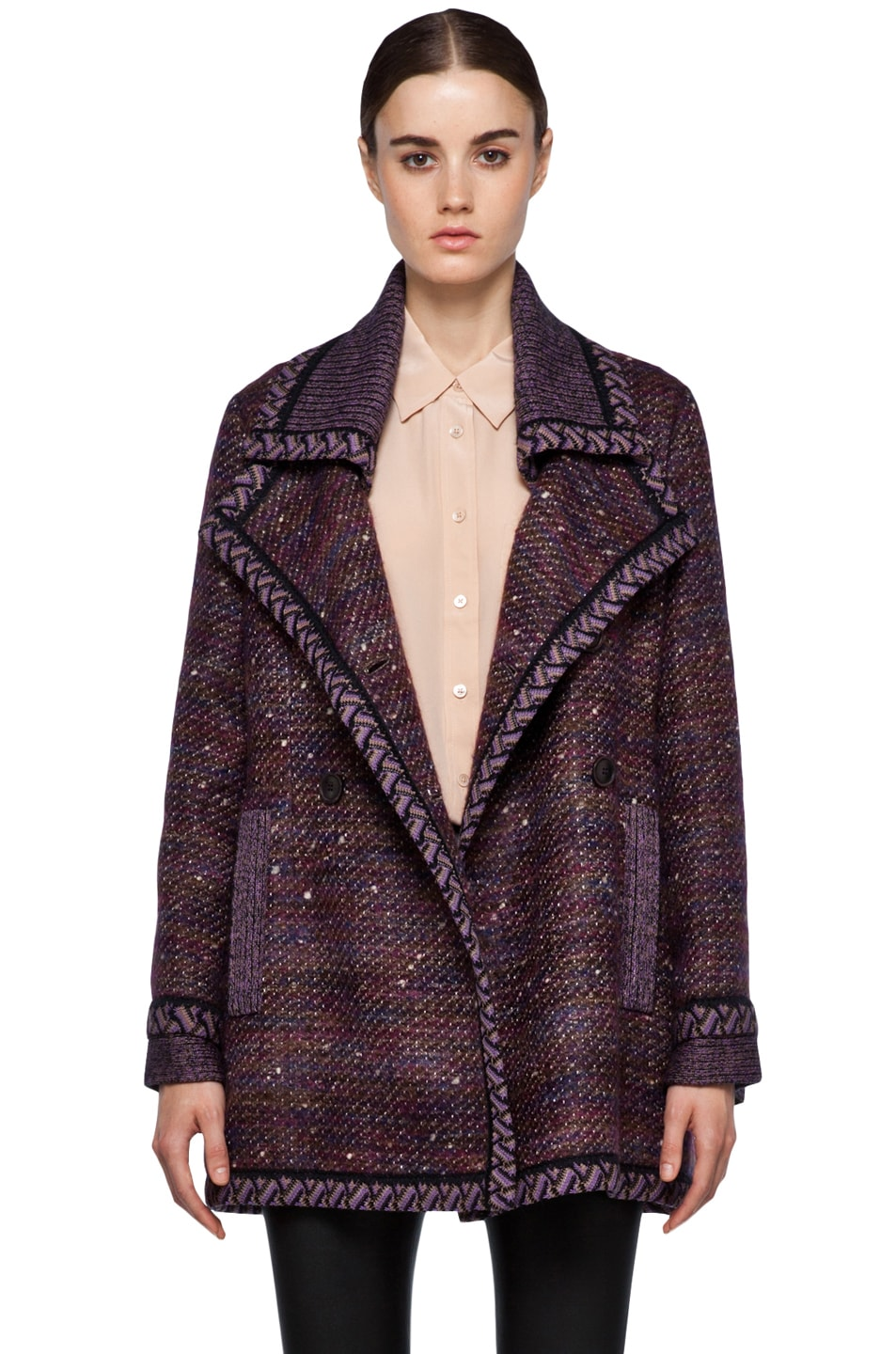 Image 2 of Missoni Coat in Purple