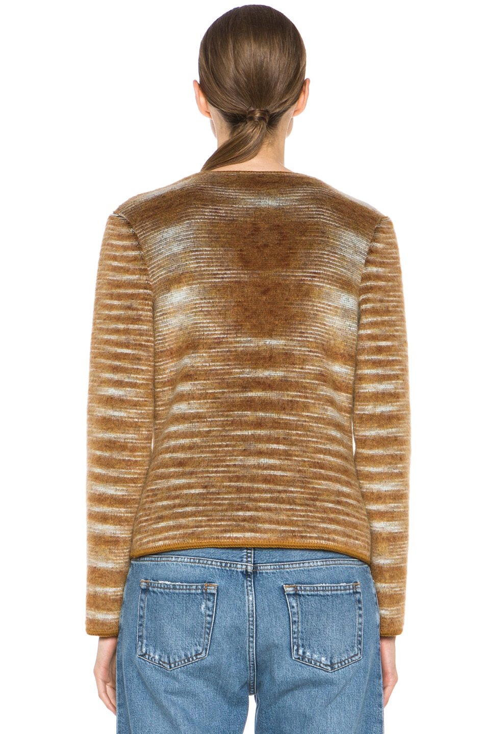 Image 5 of Missoni Cropped Mohair-Blend Cardigan Jacket in Mustard Multi