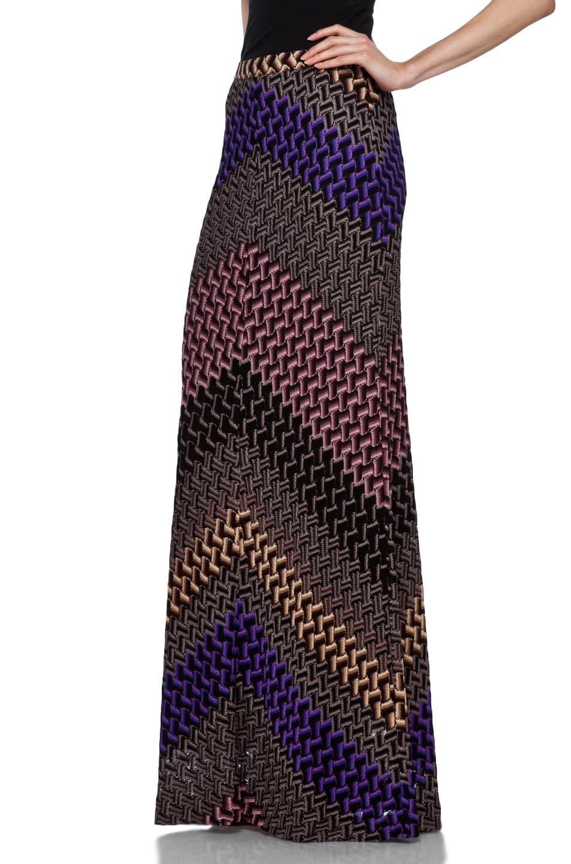 Image 2 of Missoni Maxi Skirt in Purple Multi