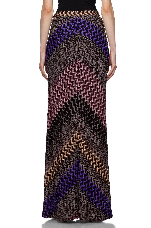 Image 4 of Missoni Maxi Skirt in Purple Multi